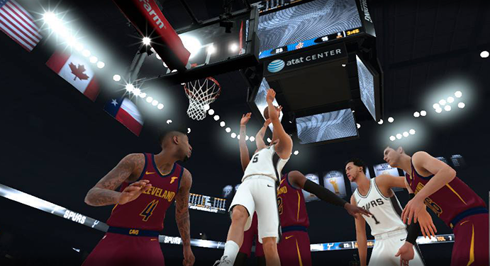 NBA 2K18 in-game screen