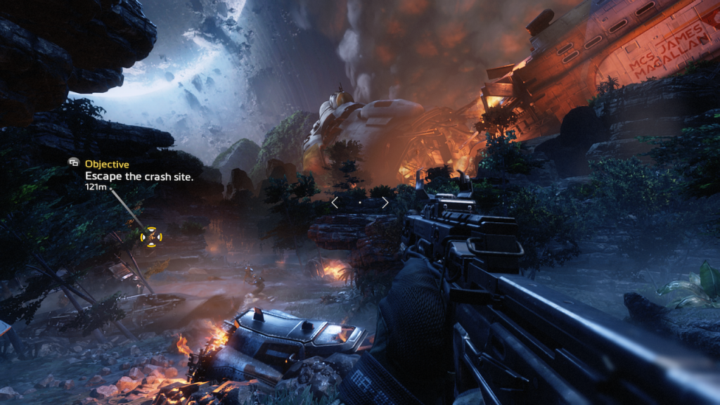 Screenshot from Titanfall 2 on Xbox One.