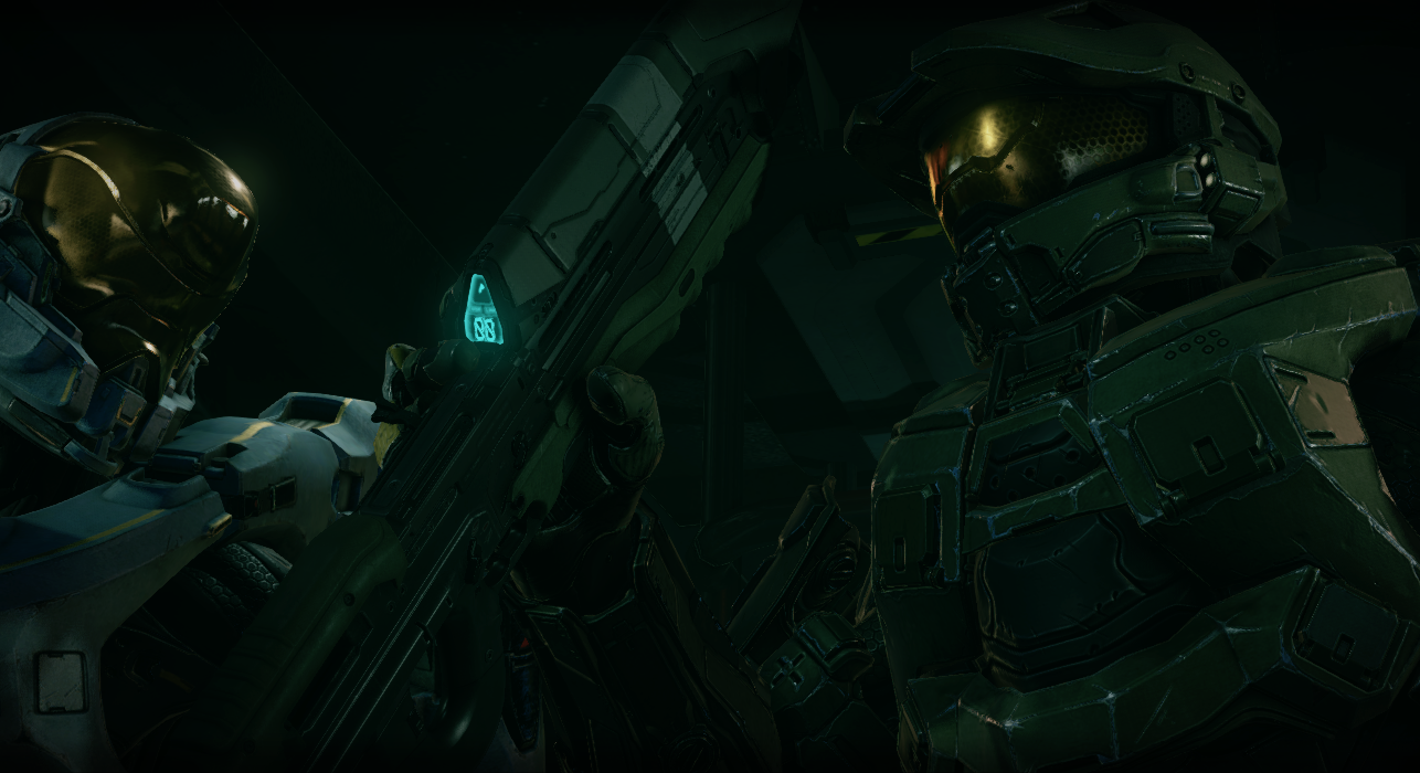 The Master Chief talks to his squadmates in Halo 5: Guardians.