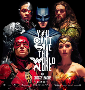 Justice League poster artwork.