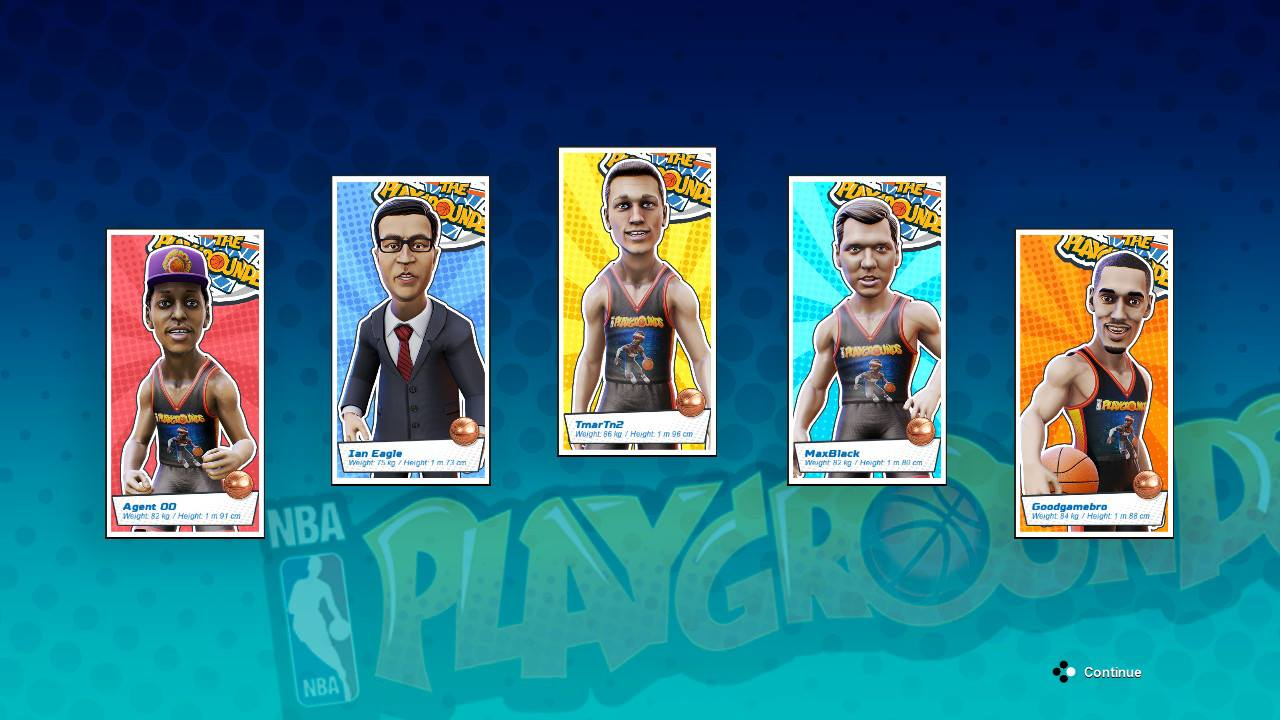 NBA Playgrounds screen shot from Nintendo Switch version.