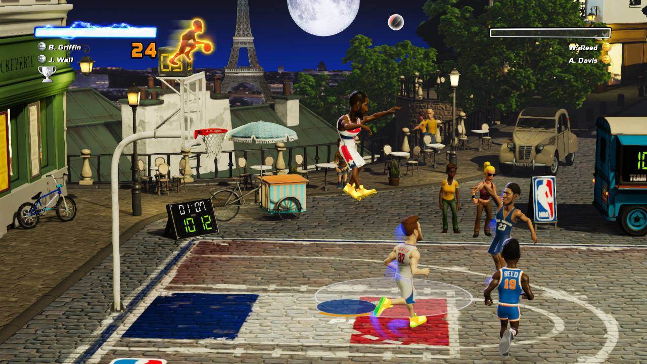 Screenshot from NBA Playgrounds for the Nintendo Switch.