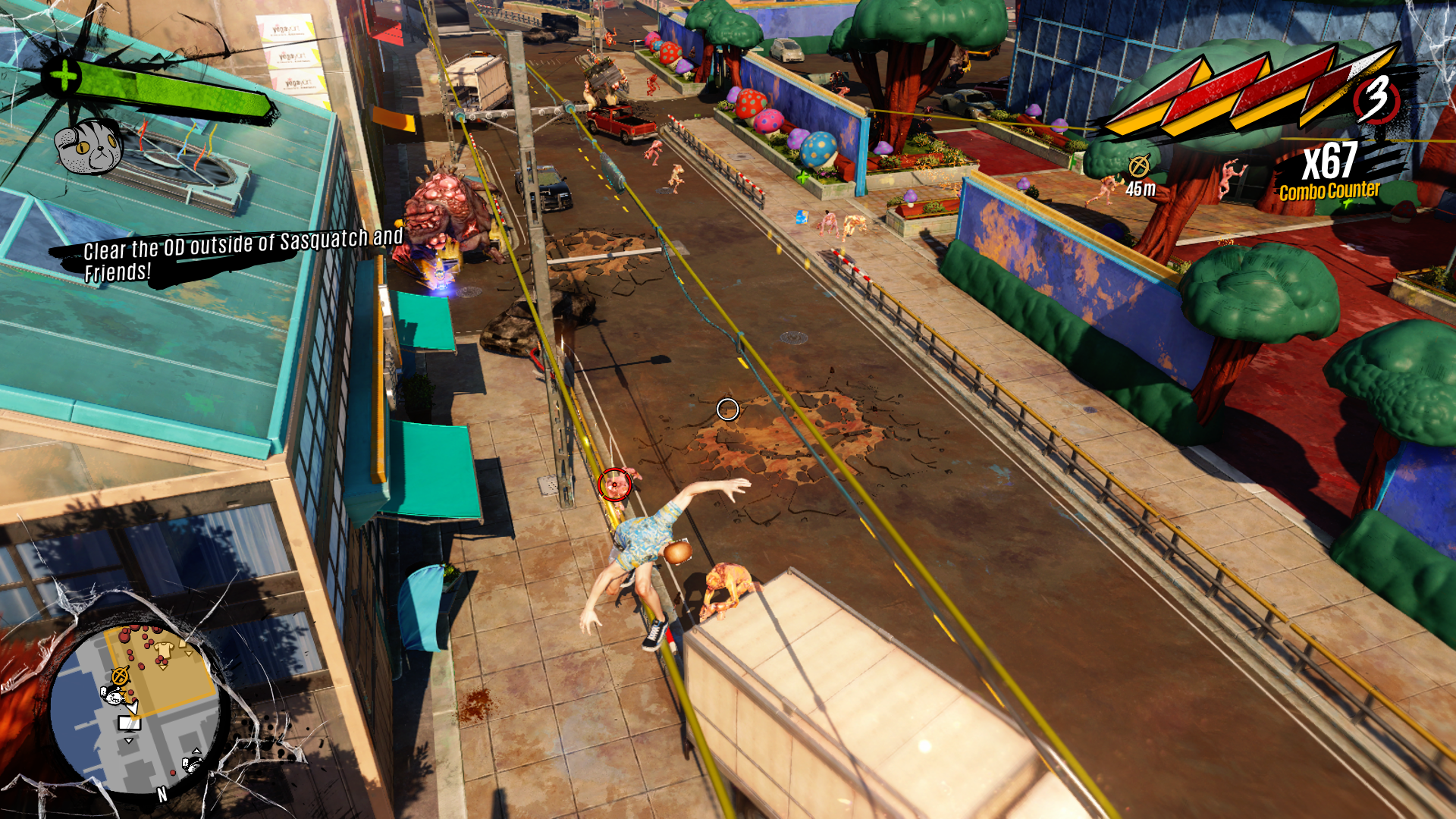 Screenshot from Sunset Overdrive on the Xbox One.