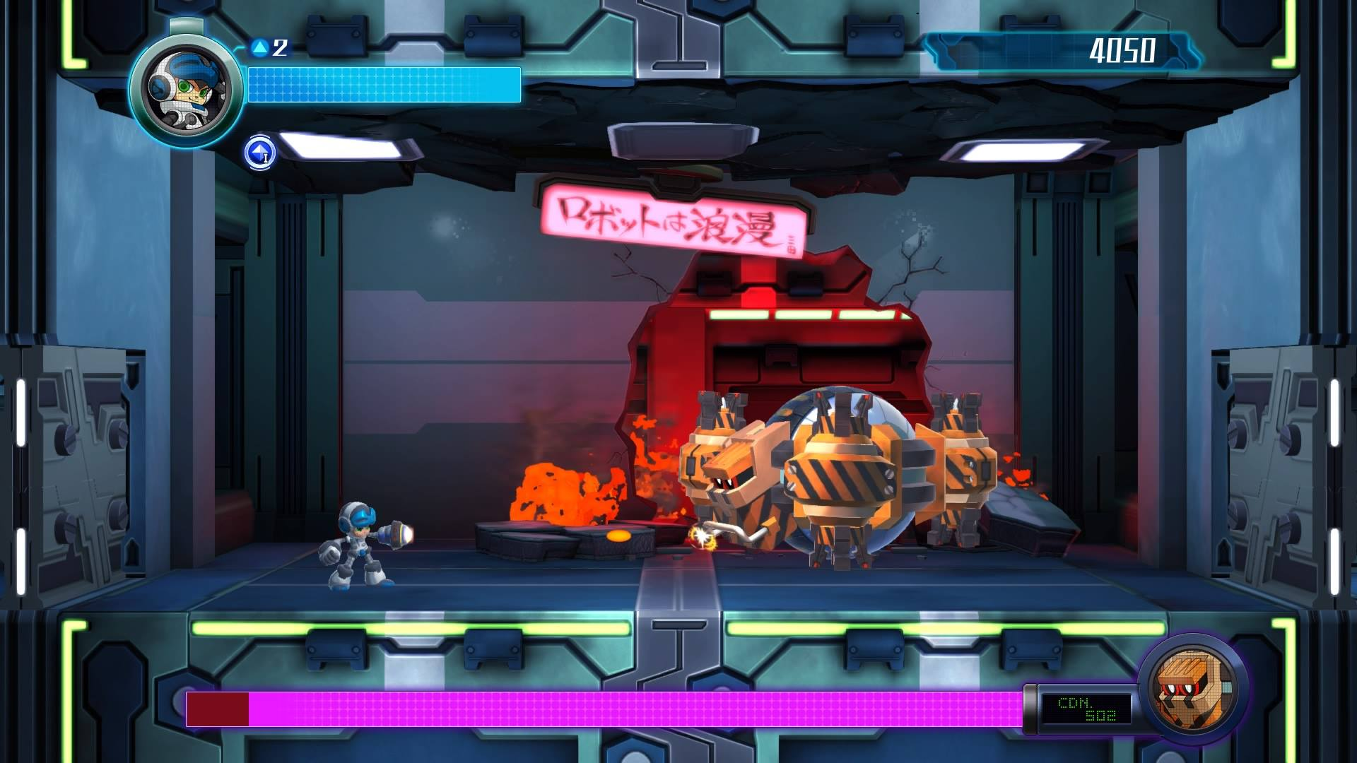 Screenshot from Mighty No. 9 on the PlayStation 4.
